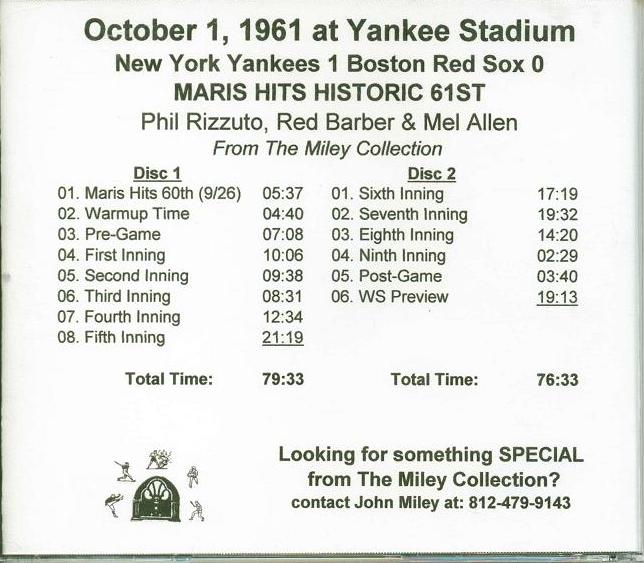 1956 World Series Game 5 CD